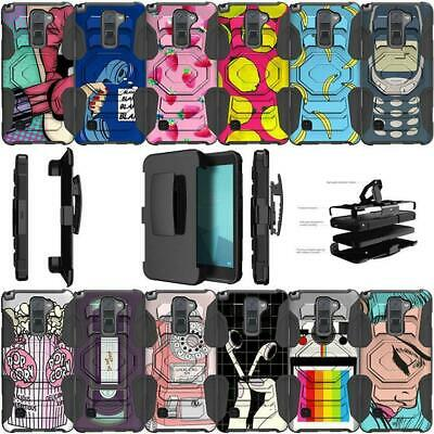 For LG Stylo 2 | LG Stylus 2 Holster and Kickstand Dual Layer Case - Vintage