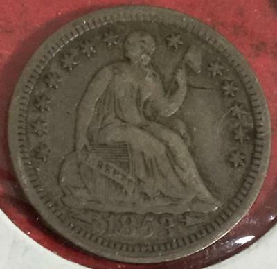 1853 US SEated LIBERTY SILVER Half Dime! VF Details! Old US Coins1