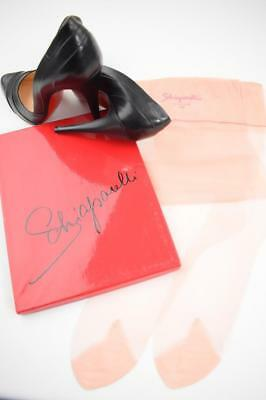 SASSY 3 Pr SCHIAPARELLI PINK SEAMLESS FLAT KNIT Vintage Nylon Stockings 10.5/32""