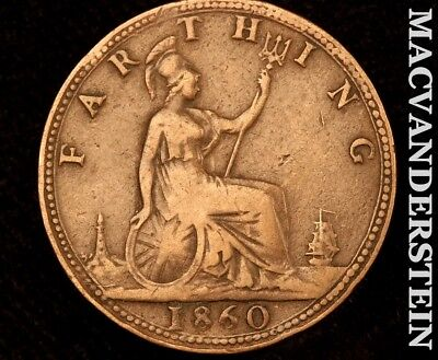 Great Britain: 1860 Farthing!!no Reserve!! #a8737