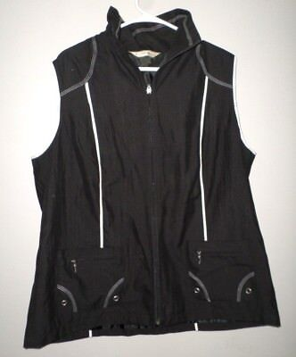 00413c1cab0 ALLISON DALEY black athletic vest Women s exercise shirt lrg fitness  Dillards