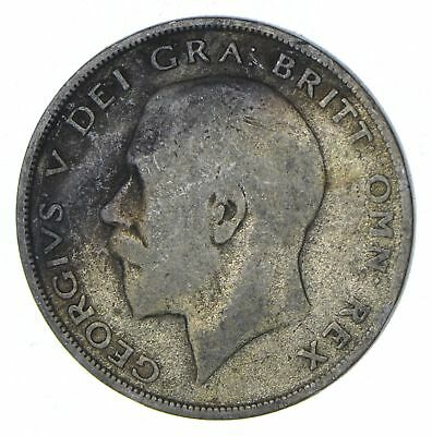 Roughly Half Dollar Size 1922 Great Britain Half Crown - Silver Coin 13.6g *408