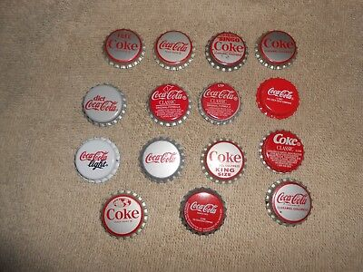 Coca-Cola Soda Bottle Caps--Lot of 15--Unused
