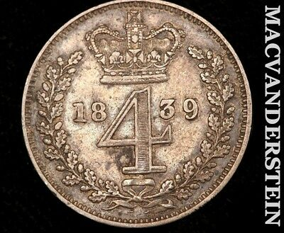 Great Britain: 1839 Four Pence Maundy!!  #a8781