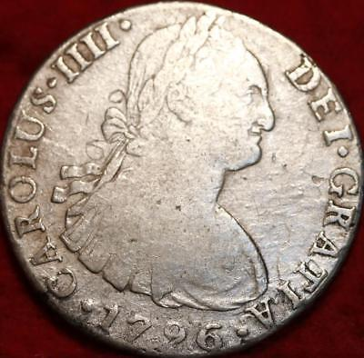1796 Spain 8 Reales Silver Foreign Coin
