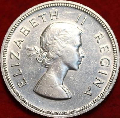 Uncirculated 1958 South Africa 2 1/2 Shilling Silver Foreign Coin