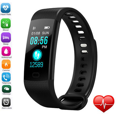 Sports Blood Pressure Oxygen Heart Rate Fitness Smart Watch Wrist Band Bracelet