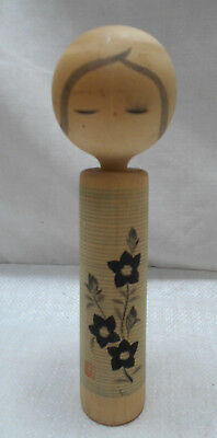 Vintage Kokeshi Creative Style Wooden Japanese Doll Handpainted  #501