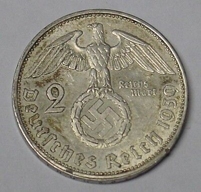 Nazi Germany 1939A silver 2 mark coin, VF.