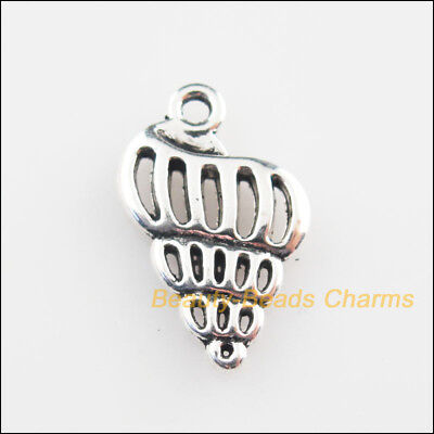 10Pcs Tibetan Silver Tone Animal Conch Charms Connectors 13x19mm