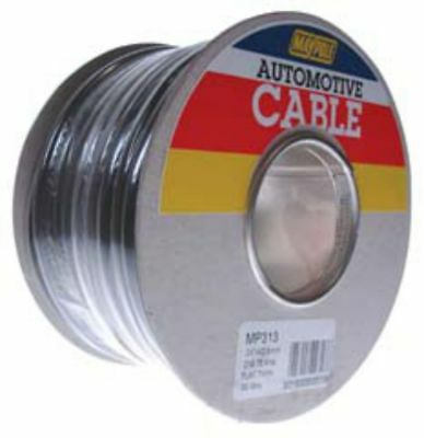 Maypole MP313 Twin Flat Electrical Wiring Cable 2 x 1.0mm2 30m Roll For 12V/24V