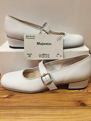 Majestic Size 11 N Womens Square Dance Shoes, White