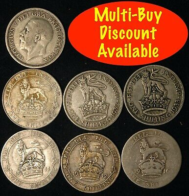 Shilling George V 1927  -  1936 Silver Choose your Date