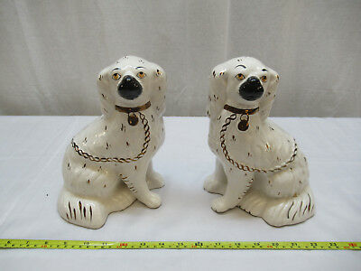 Pair of Vintage Staffordshire Mantle Dogs