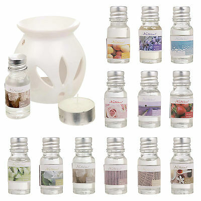 Ceramic Oil Wax Burner Tea Light Fragrance Aromatherapy Gift Boxed - 12 Scents