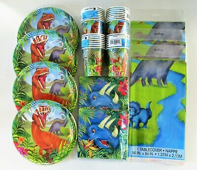 Dinosaur Party Tableware Plates Cups Napkins Table Cover - Choose Your Item