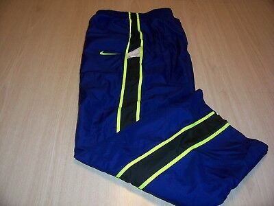 Nike Blue W/black/yellow Lined Athletic Pants Boys Medium 10-12 Excellent