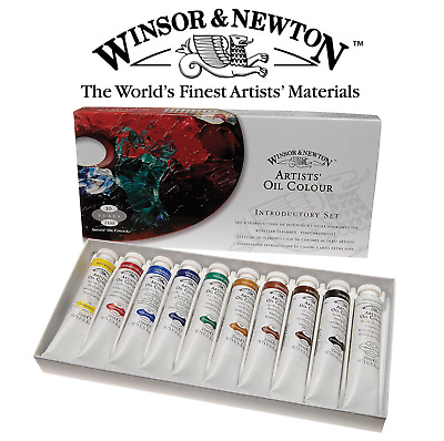 WINSOR AND NEWTON ARTIST OIL COLOUR INTRODUCTORY SET 10 x 21ml PAINT TUBES
