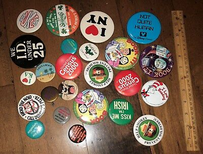 Assorted Button Pinback Collection Advertising -  Free US Shipping