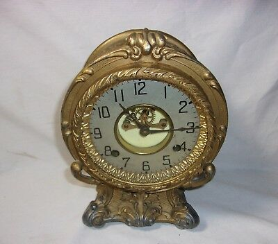 Antique Scarce Ansonia Mantle Open Escapement Clock  T*