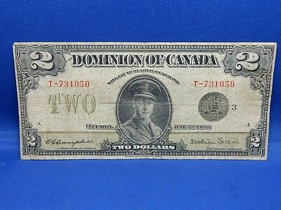 1923 Dominion of Canada Large Size $2 Note
