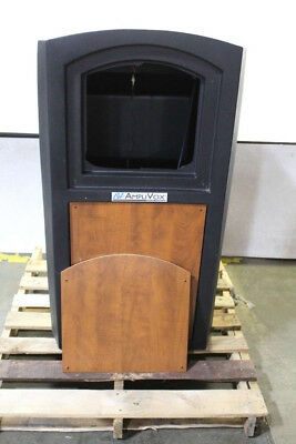 AmpliVox Sound Systems Pinnacle Multimedia Lectern with Mic