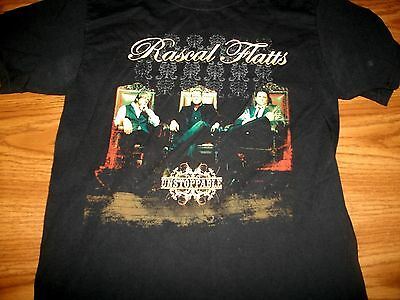 Rascal Flatts Picture Unstoppable Tour Stop Black T-Shirt Sm New