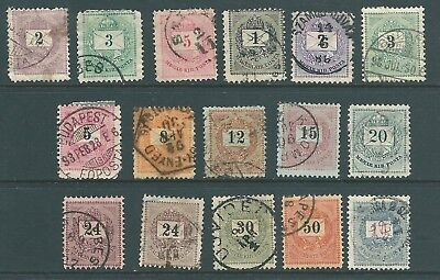 HUNGARY early used stamp collection to 1 ft 1874-1888