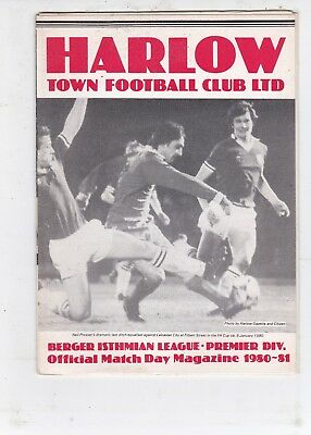 Harlow Town V Charlton Athletic Fa Cup  22/11/80