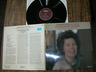 MINT-/ MAHLER songs of youth DAME JANET BAKER & G. PARSONS,Piano Hyperion rareLP