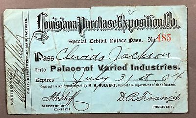 1904 Louisiana Purchase Exposition Palace Pass