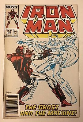 Iron Man #219 - Jun 1987 - 1st appearance The Ghost