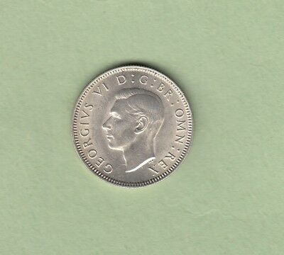 1946 Great Britain One Shilling Silver Coin - Scottish Reverse - AU