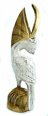 Pelican Ocean Bird Wood Sculpture Cottage Tropical Island Tropical Island Art