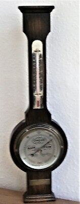"1964 Barometer with Thermometer 24"", Short and Mason, Harrods Retiree Present"
