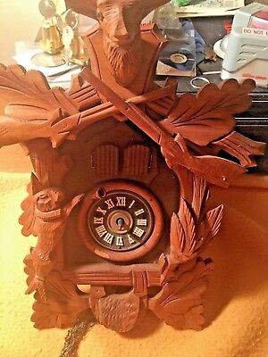 Cuckoo Clock With Dual Opening Doors, Needs Work, Free Shipping