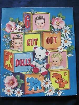 """Vintage 1943 Whitman Publishing """"6 Cut Out Dolls""""  Babies Toddlers UNUSED"""