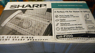 Sharp UX-P200 Plain Paper FAX Facsimile Machine with EZ Navigation NIB