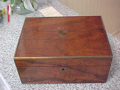 1800S Lap Writing Folding Walnut Travel  Desk
