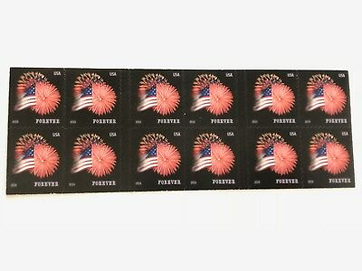 US Star Spangled Banner Sheet of 20 Forever USPS Postage Stamps First Class Mail