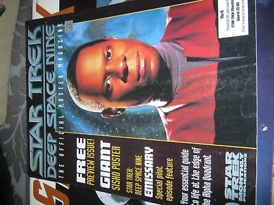 Star Trek Deep Space 9 Poster Magazine Preview Issue Very Good Condition