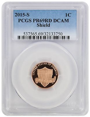2015-S Lincoln Cent PR69RD DCAM PCGS Proof 69 Red Deep Cameo Shield