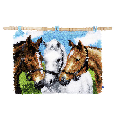Vervaco Latch Hook Kit - Rug - Horses - Needlecraft Kits