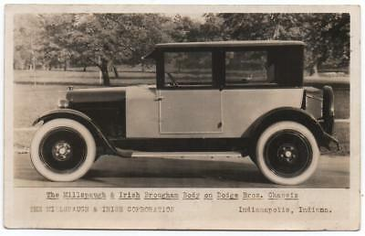 RARE Real Photo Advertising Card   Dodge Bros. Millspaugh & Irish Brougham  Auto