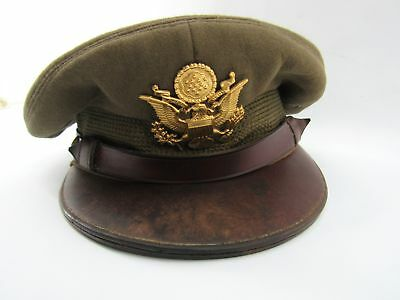 Original WWII US Army Air Force Officer  Crusher Cap Hat