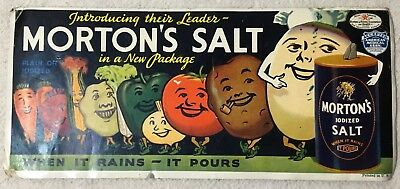 Blotter Morton's Salt With Anthropomorphic Vegetables
