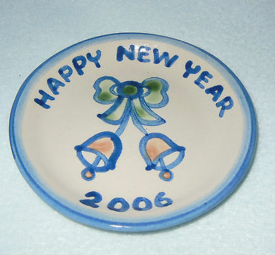 M.A. Hadley Pottery Mini Plate - Happy New Year 2006 VGC