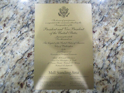 2001 Inauguration Ceremony Invitation George W Bush