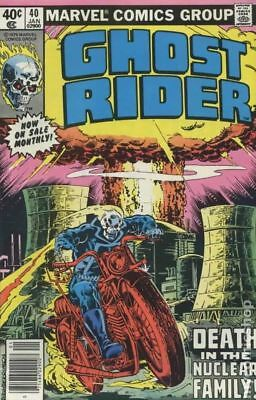 Ghost Rider (1st Series) #40 1980 VG 4.0 Stock Image Low Grade