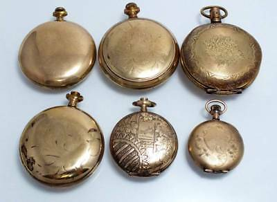 Antique Vtg 226 Gram Gold Filled 20 Yr Pocket Watch Case Scrap Recovery Parts